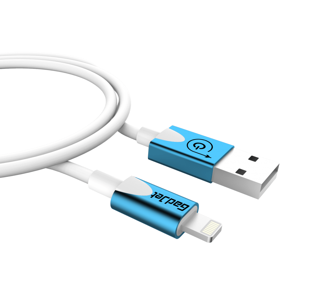 Gadjet Elite 8 Pin USB Cable iPhone 5 / 6 Blue / White